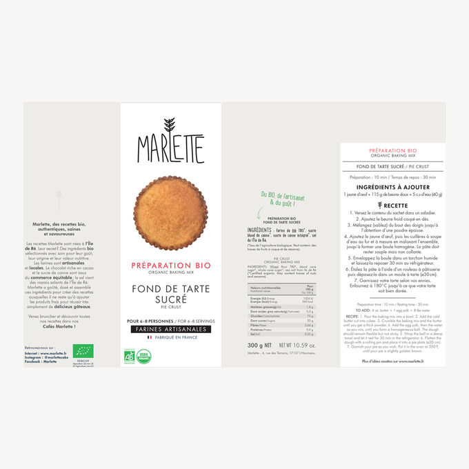 Organic sweet tart base mixture Marlette