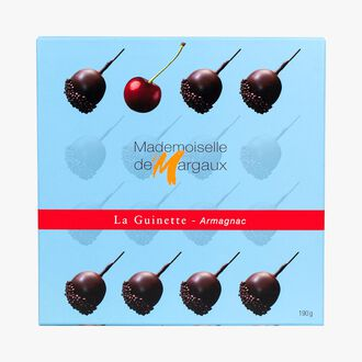 Box of 16 chocolates with Armagnac and morello cherry liqueur  Mademoiselle de Margaux