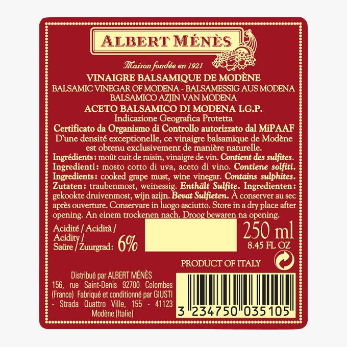 Il Denso Giusti Modena balsamic vinegar Albert Ménès