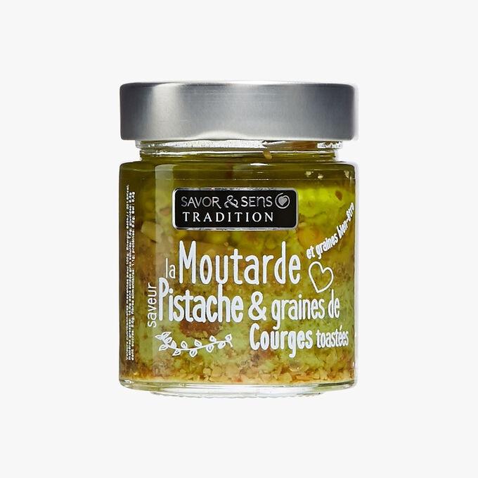 Moutarde saveur pistache et graines de courges toastées Savor & Sens