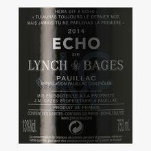 Echo de Lynch-Bages, AOC Pauillac, 2014 Echo de Lynch Bages