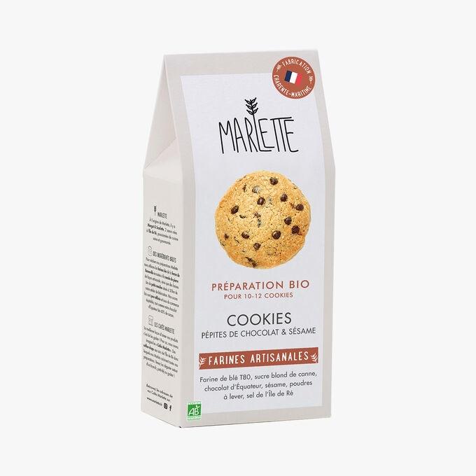 Préparation bio pour cookies pépites de chocolat et sésame Marlette