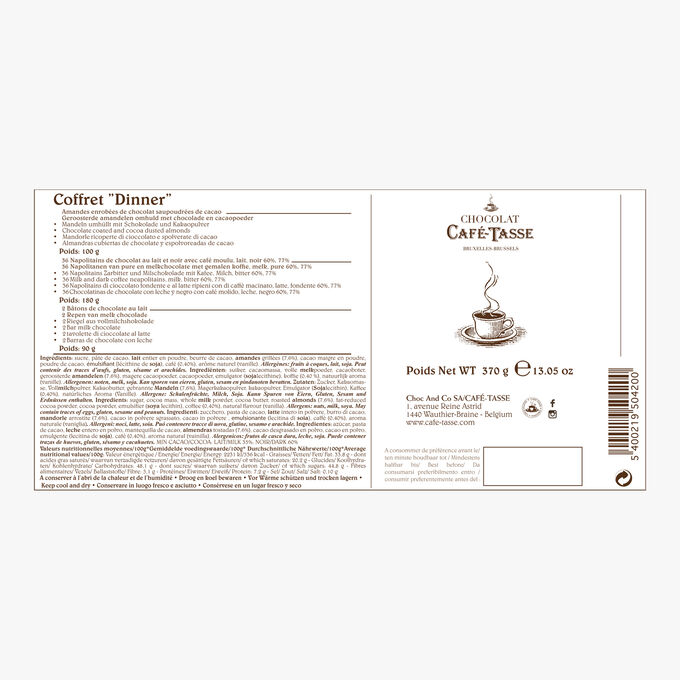Coffret Dinner Café-Tasse