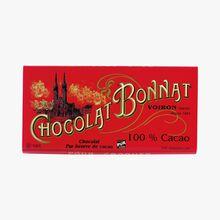 Tablette chocolat noir 100 % de cacao Bonnat