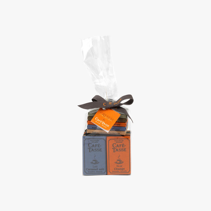 Cristal collection: 20 assorted mini chocolate bars Café-Tasse