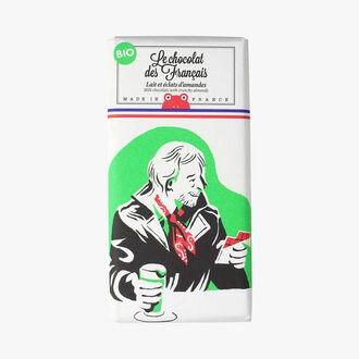 Lait et éclats d'amandes Le Chocolat des Français