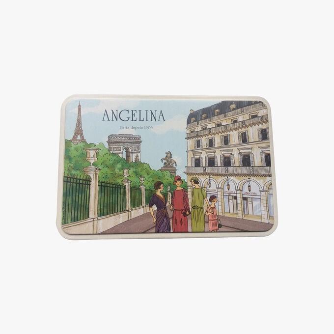 Boîte en fer assortiment de biscuits Angelina