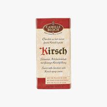 Chocolat au lait suisse fourré Kirsch liquide Camille Bloch