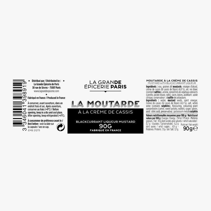 Moutarde à la crème de cassis La Grande Épicerie de Paris