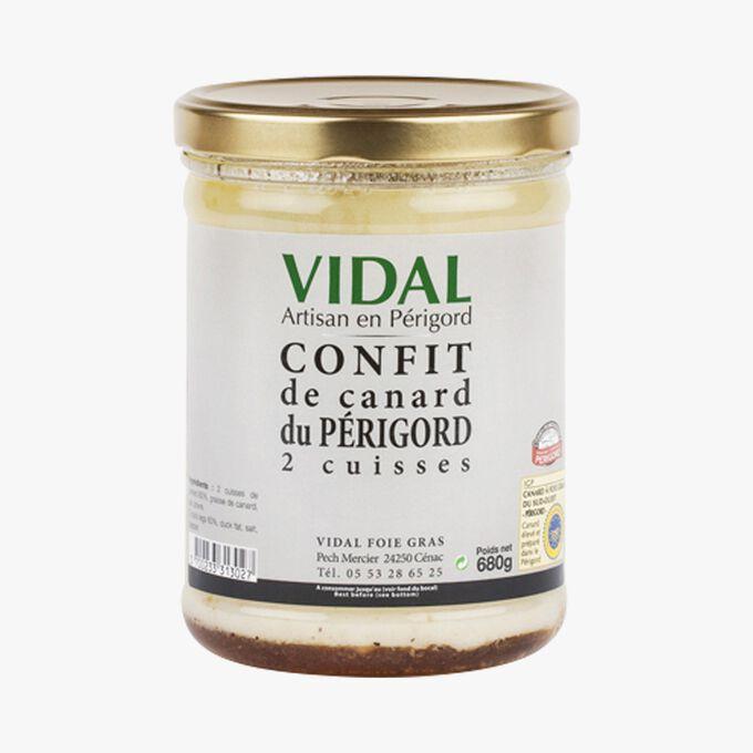 Confit de canard du Périgord - 2 cuisses Vidal