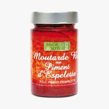 Préparation alimentaire bio à base de moutarde au piment d'Espelette Savor & Sens