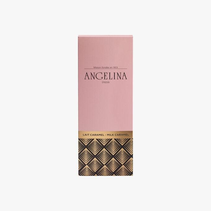 Tablette de chocolat au lait et caramel Angelina