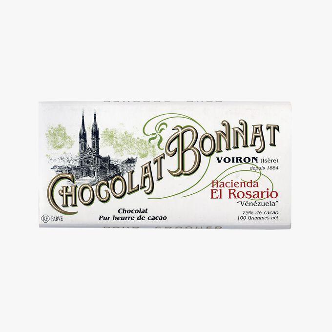 Tablette Hacienda El Rosario Chocolat noir 75 % de cacao Bonnat