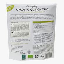 Trio de quinoa à l'huile d'olive extra vierge & sel marin Clearspring