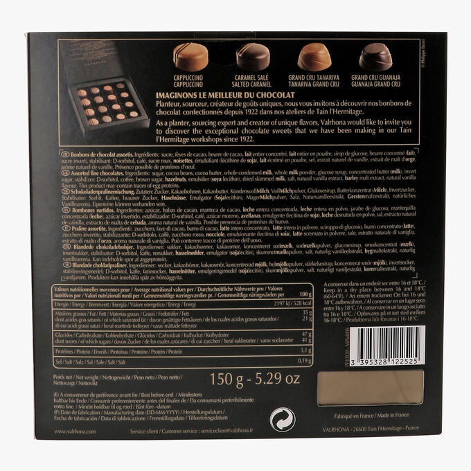 Coffret 16 chocolats fins Valrhona