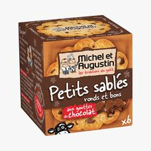 Little shortbread biscuits with chocolate drops Michel et Augustin