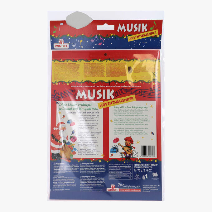 Musik Weihnachtskalender.Advent Calendar Advent Calendar Contents 24 Chocolate Figurines Windel