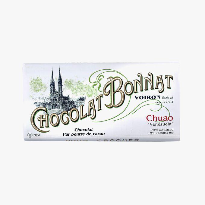 Tablette Chuao Chocolat noir 75 % de cacao Bonnat