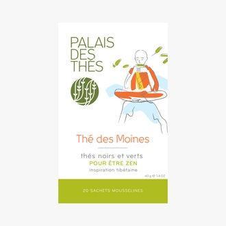 Thé des moines, thés noirs et verts, 20 sachets mousselines Palais des Thés
