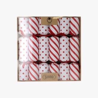 6 crackers rouge et blanc Sophie M