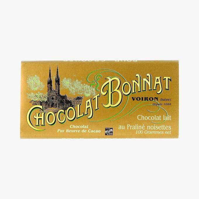 Chocolat lait au praliné noisettes Bonnat