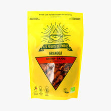 Organic chocolate, cashew nut and cinnamon granola Les Fruits Détendus