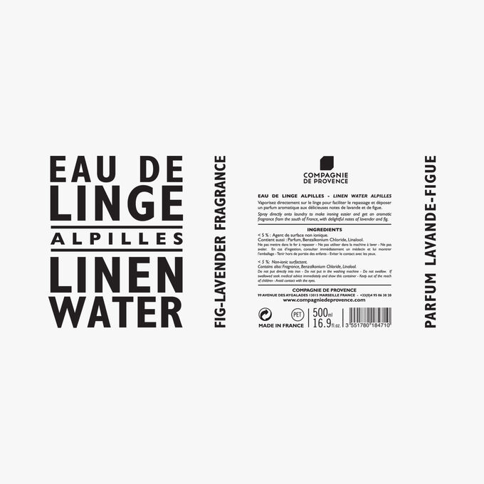 Alpilles linen water Compagnie de Provence