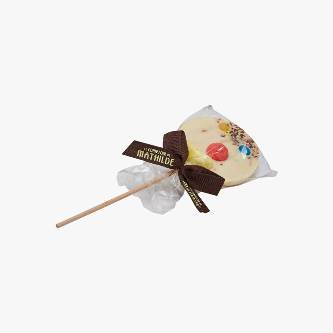 White clown lollipop Le Comptoir de Mathilde