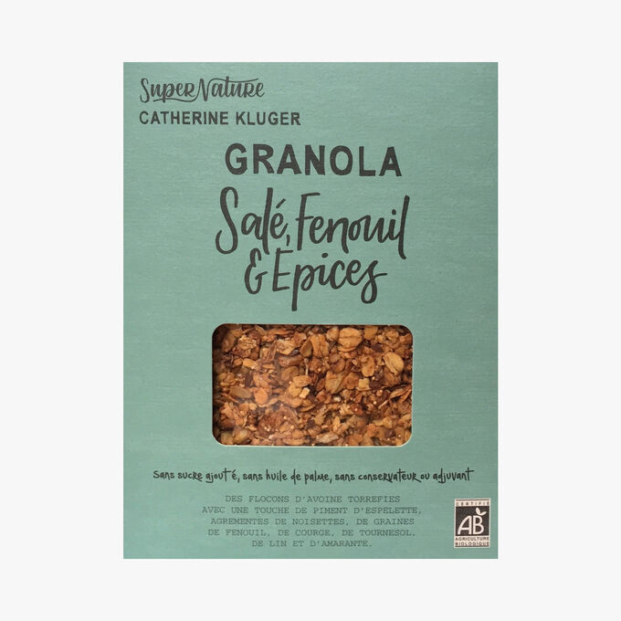Savoury granola with fennel and spices SuperNature Catherine Kluger
