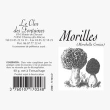 Jumbo morel mushrooms Le Clos des Fontaines