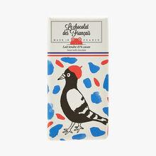 Soft milk chocolate, 41% cocoa – Illustration by Marie Assénat Le Chocolat des Français