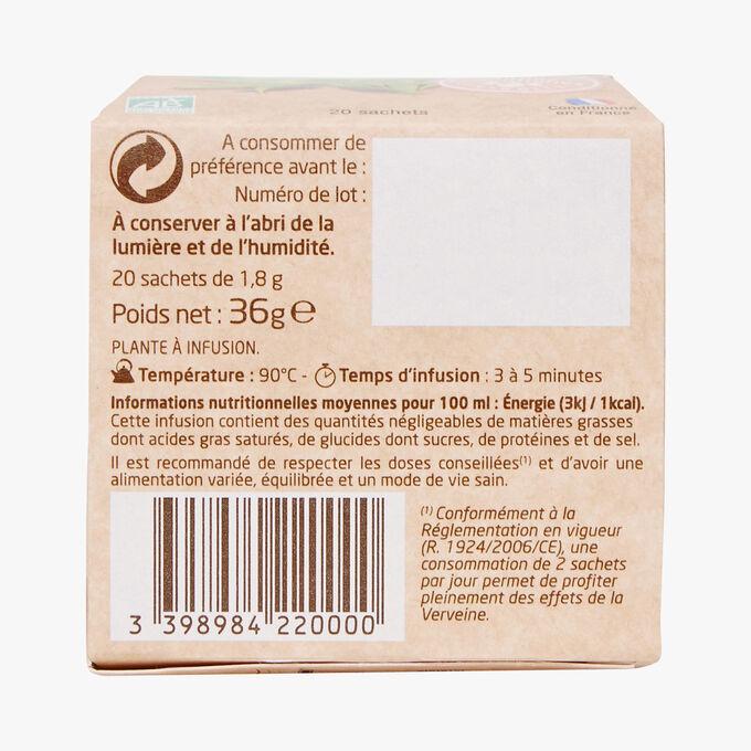 Organic verbena infusion, relaxation Pagès