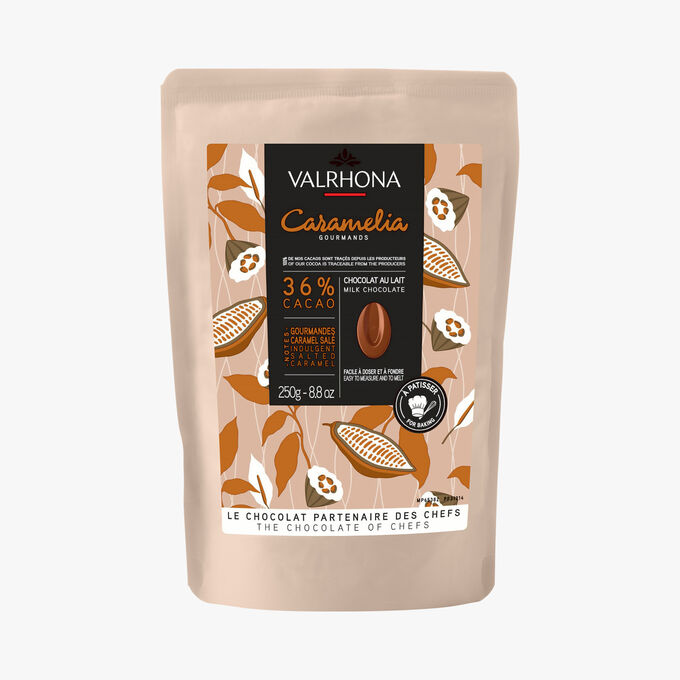 Caramelia gourmands - Chocolat au lait 36 % cacao Valrhona