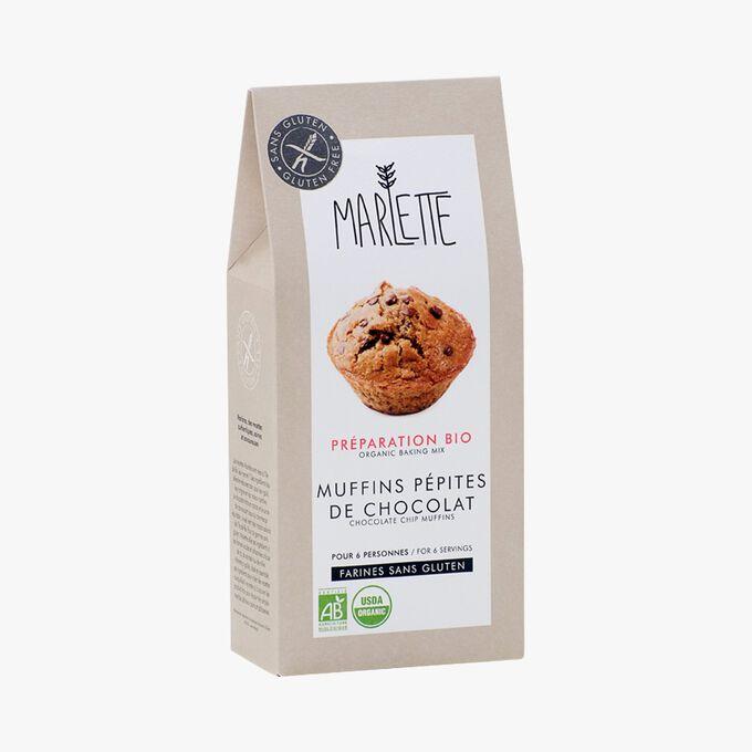 Préparation bio sans gluten pour muffins pépites de chocolat Marlette
