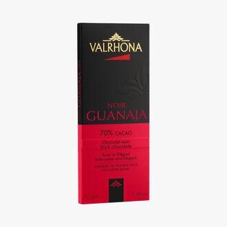Tablette Guanaja, chocolat noir (70% de cacao minimum, pur beurre de cacao) Valrhona
