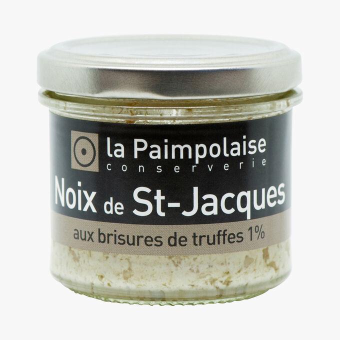 Noix de Saint-Jacques aux brisures de truffes 1 % La Paimpolaise Conserverie