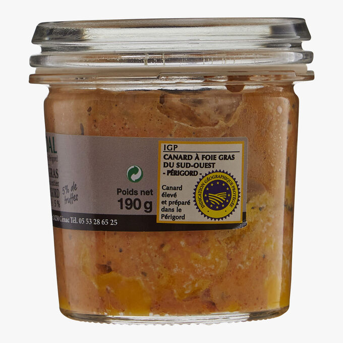 Whole Périgord duck foie gras 5 % truffle Vidal