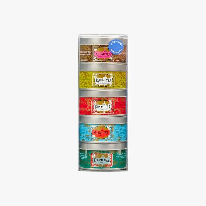 Les après-midis assortiment 5 boîtes métal Kusmi Tea