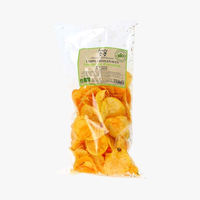 Chips artisanales, herbes de Provence, n°004, bio Family Chips