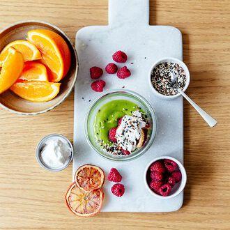 Pudding au Matcha et à la fleur d'oranger, , hi-res title=Pudding au Matcha et à la fleur d'oranger,