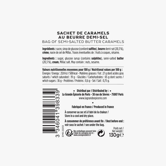 Packet of semi-salted butter caramels La Grande Épicerie de Paris