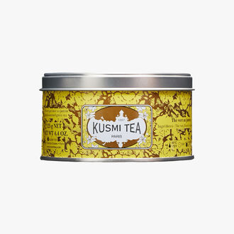 Jasmine Green Tea, metal tin Kusmi Tea
