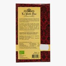 Chocolat noir 100 % République Dominicaine Le Petit Duc