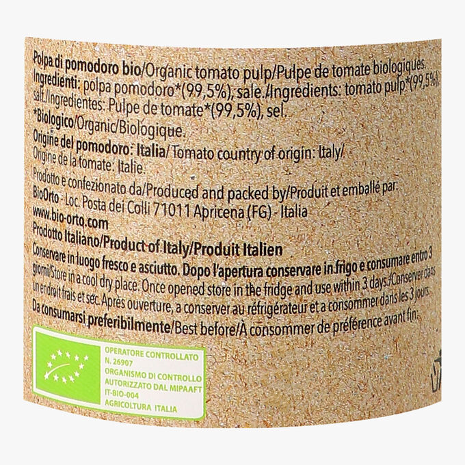 Organic tomato pulp Bio Orto