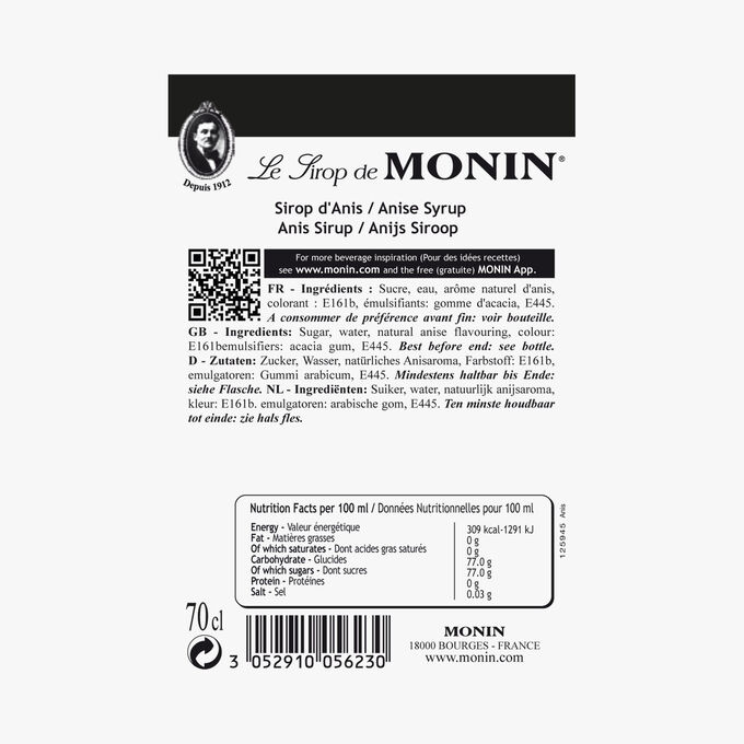 Sirop d'anis Monin