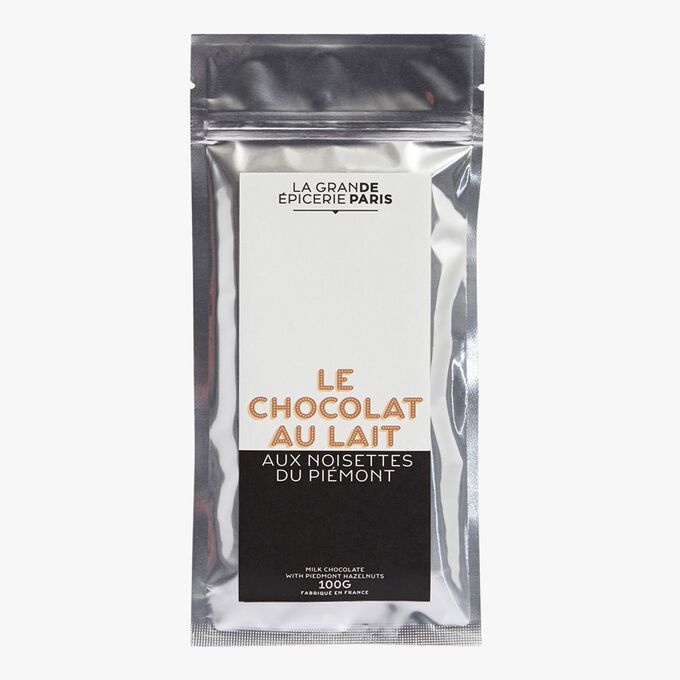 Milk chocolate with Piedmont hazelnuts La Grande Épicerie de Paris