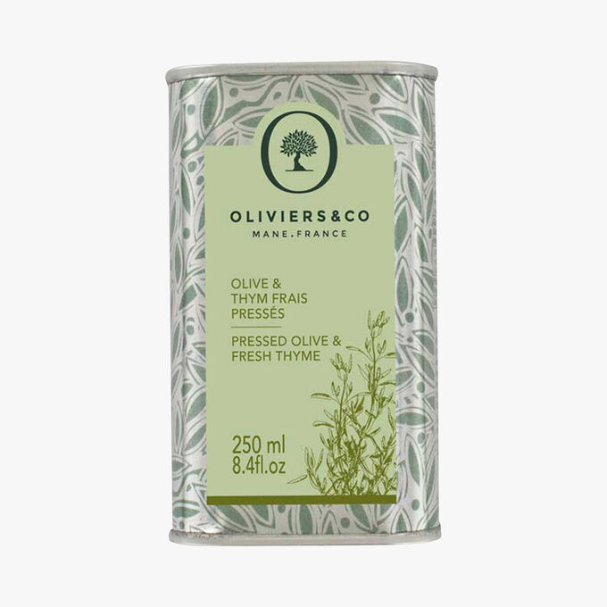 Freshly pressed Olive & Thyme Oliviers & Co