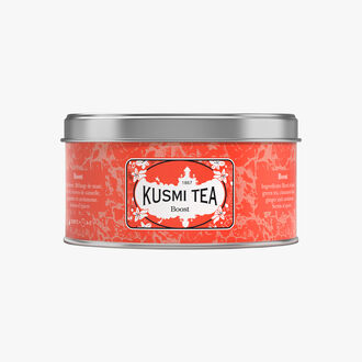 Boost metal tin Kusmi Tea
