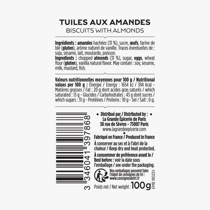 Almond tuile biscuits La Grande Épicerie de Paris