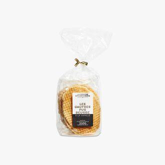 Pure butter waffle biscuits with a vanilla filling La Grande Épicerie de Paris